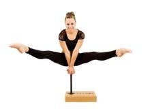 Giovane donna professionale della ginnasta Fotografia Stock