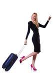 Giovane donna pronta per le vacanze estive Immagini Stock