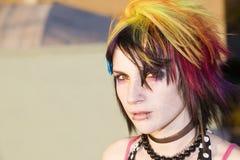 Giovane donna punk fotografia stock libera da diritti