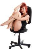 Giovane donna red-haired sexy Fotografia Stock Libera da Diritti