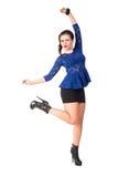 Giovane donna sbattente le palpebre allegra Fotografie Stock