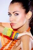 Giovane donna sensuale con gli accessori assortiti Immagini Stock Libere da Diritti