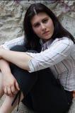 Giovane donna seria fotografia stock libera da diritti