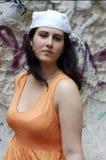 Giovane donna seria Immagine Stock Libera da Diritti