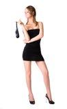 Giovane donna sexy con la borsa Immagini Stock Libere da Diritti