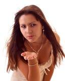 Giovane donna sexy isolata Fotografia Stock