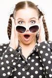 Giovane donna sorpresa Immagine Stock