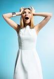 giovane donna sorpresa Fotografia Stock