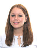 Giovane donna sorridente immagini stock libere da diritti