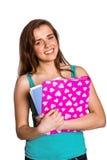 Giovane donna sorridente con i libri Immagine Stock Libera da Diritti