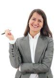 Giovane donna sorridente di affari Fotografie Stock