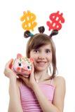 Giovane donna sorridente di affari Immagine Stock