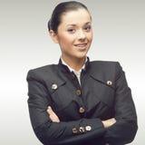Giovane donna sorridente di affari Fotografia Stock Libera da Diritti