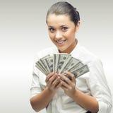 Giovane donna sorridente di affari Fotografia Stock