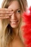 Giovane donna sorridente felice immagini stock libere da diritti