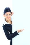 Giovane donna sorridente felice di affari Immagine Stock