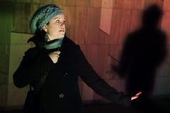 Giovane donna spaventata Fotografia Stock Libera da Diritti