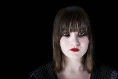 Giovane donna spaventosa fotografie stock