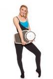 Giovane donna sportiva nell'allenamento di riscaldamento Immagine Stock