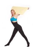 Giovane donna sportiva nell'allenamento di riscaldamento Immagine Stock Libera da Diritti