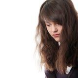 Giovane donna teenager con la depressione Fotografie Stock Libere da Diritti