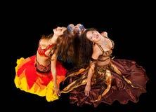 Giovane donna tre in costume arabo Fotografie Stock Libere da Diritti