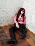 Giovane donna ubriaca Fotografia Stock Libera da Diritti