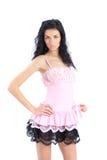 Giovane donna in un vestito fotografia stock libera da diritti