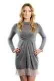 Giovane donna in un vestito fotografie stock