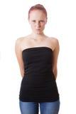 Giovane donna vergognosa Fotografia Stock
