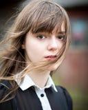 Giovane donna vittoriana nel nero Fotografia Stock Libera da Diritti