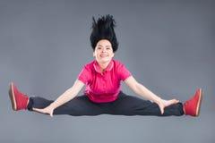 Giovane e bello ballerino della donna Fotografia Stock Libera da Diritti