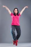Giovane e bello ballerino della donna Fotografie Stock
