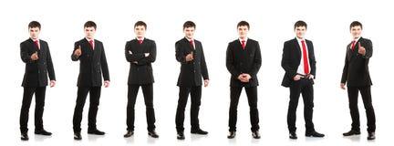 Giovane e collage sicuro degli uomini d'affari Fotografie Stock Libere da Diritti