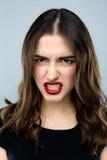 Giovane e donna arrabbiata Fotografie Stock
