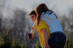 Giovane e ragazza Fotografia Stock Libera da Diritti