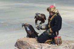 Giovane Eagle Hunter kazako Fotografia Stock