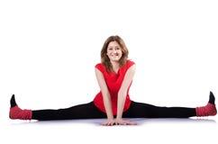 Giovane esercitazione della ginnasta Fotografia Stock Libera da Diritti