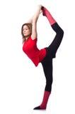 Giovane esercitazione della ginnasta Immagine Stock