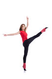 Giovane esercitazione della ginnasta Fotografia Stock