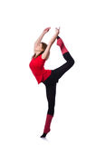 Giovane esercitazione della ginnasta Immagini Stock Libere da Diritti