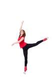 Giovane esercitazione della ginnasta Immagini Stock