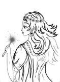 Giovane fairy illustrazione vettoriale