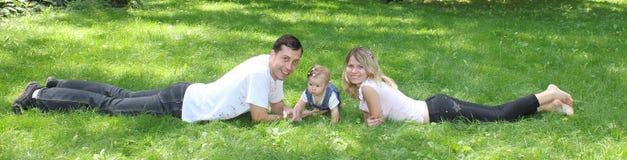 Giovane famiglia Fotografie Stock