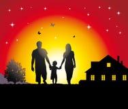 Giovane famiglia Immagine Stock