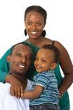 Giovane famiglia afro american Immagine Stock