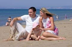 Giovane famiglia attraente sulla vacanza in Spagna Fotografia Stock