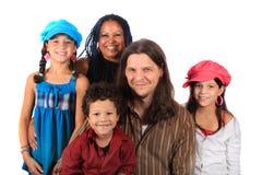Giovane famiglia etnica Fotografia Stock Libera da Diritti