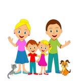 Giovane famiglia felice Fotografia Stock