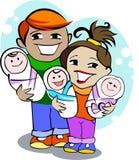 Giovane famiglia felice illustrazione di stock